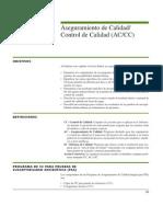 Aeguramiento y Control de Calidad Para Pruebas de Suceptilidad a
