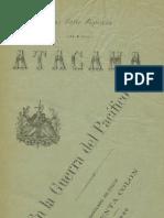 Atacama en la Guerra del Pacífico. (1888)