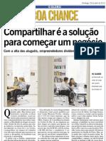 Jornal O Globo - Boa Chance - Compartilhar é a solução para começar um negócio