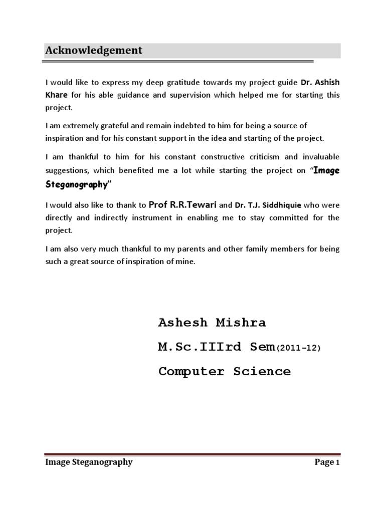 Dissertation in steganography