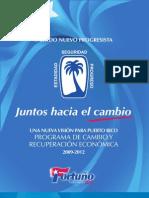 Una Nueva Visión Para Puerto Rico, Programa de Cambio y Recuperación Económica