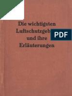 Die wichtigsten Luftschutzgebote und ihre Erläuterungen - 1939
