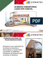 Presentacion de Medios Comunitarios CONATEL