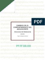 Cambios en El Comport a Mien To Del Adolescente
