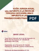 DDJJ Anual Tercera Categoria
