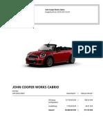 Daten Mini JCW Cabrio
