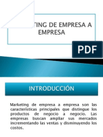 Trabajo Marketing de Empresa a Empresa