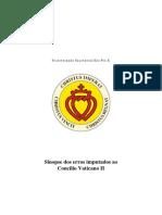 FSSPX-Sinopse Erros Vaticano II