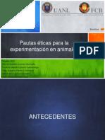 Pautas éticas para la experimentación en animales