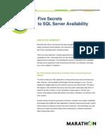 Five Secrets to SQL Server Availability