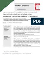 Multi Resist en CIA Antibiotic A en UCI