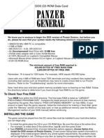 Panzer General - Install Guide - PC