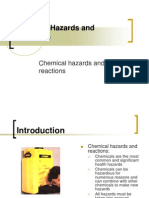 Chemical Hazards and Reactions