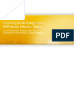 Preparing for Meaningful Use EMR Vendor Selection Guide
