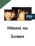 Hitomi No Screen (Yamada Ryosuke Fan Fiction)