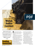 Feeding Distillers' Grains- Watch Sulfer Content