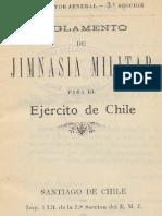 Ejército de Chile. Reglamento de Jimnasia Militar para el Ejército de Chile. (1902)