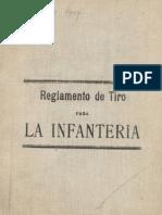 Ejército de Chile. Reglamento de Tiro para la Infantería. (1901)
