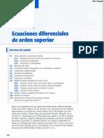 Capitulo 03 - Ecuaciones Diferenciales de Orden Superior