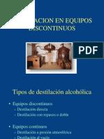 Destilación Discontinua en Alambiques