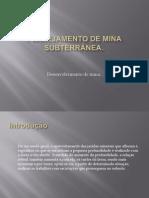 Desenvolvimento de uma mina subterrânea oficial