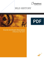AP WorldHistoryCED Effective Fall 2011