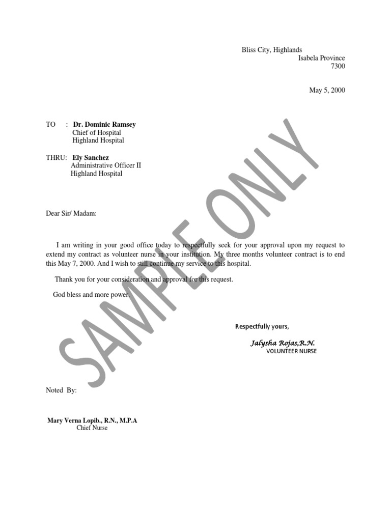 Sample letter to extend nurse contract thecheapjerseys Image collections