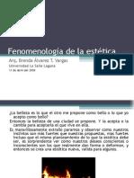 Fenomenología de la estética, trabajo final