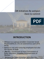 CSR Initiatives by Welspun FINAL