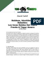Cahill, David -Los Incas Nobles de Cuzco Frente a Tupac Amaru