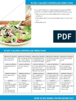 Calorie Controlled Menu Plan