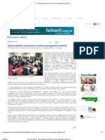 Folha de Niterói - Especialistas esclarecem sobre propaganda eleitoral