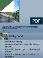 Implementing School Improvement Models_instructional Leaders