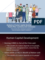 Analysis of Human Capital Development in Puerto Rico