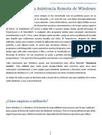 Manual de cia Remota de Windows