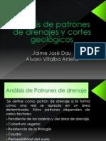 Análisis de patrones de drenajes y cortes geologicos