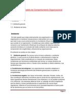 Ambiente y Modelo de Comport a Mien To Organizacional