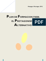 Plan de Formacion Para Protagonismo Adolescentes y Jovenes
