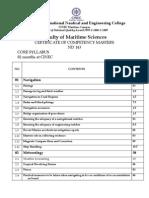 ND - 143 Core Syllabus