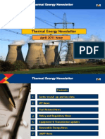 Thermal Energy Newsletter April 2011