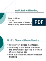 Flynn - Abnormal Uterine Bleeding Final 2007