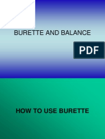 Burette and Balance