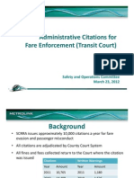 Item No 9 - Transit Court Presentation