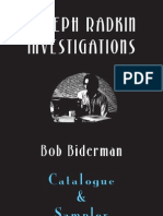 Joseph Radkin Investigations:Catalogue and Sampler