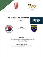 Um Mbw Taekwondo Open 2012-Signed