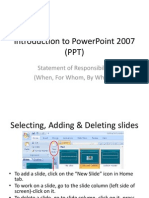 Power Point Instruction