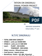 Presentation on Singrauli Super Thermal Power Project