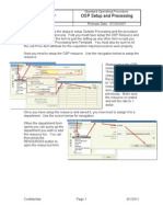 OSP Setup and Processing