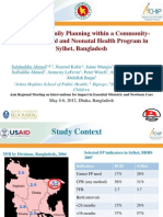 Ahmed_Integration of Family Planning and MNH Programs