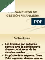 1.1 Fundamentos de Gestión Financiera